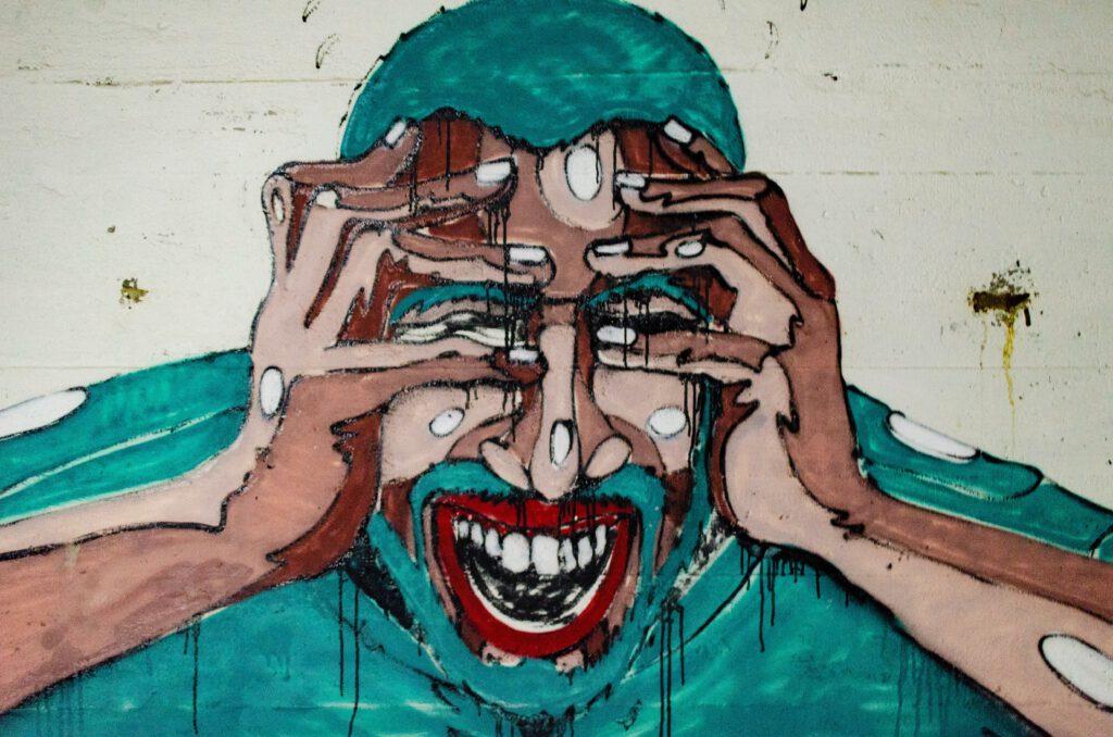 Ból głowy, mural